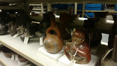 collection of peruvian artifacts