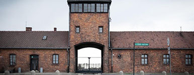 Feature photo for the article on the liberation of Auschwitz
