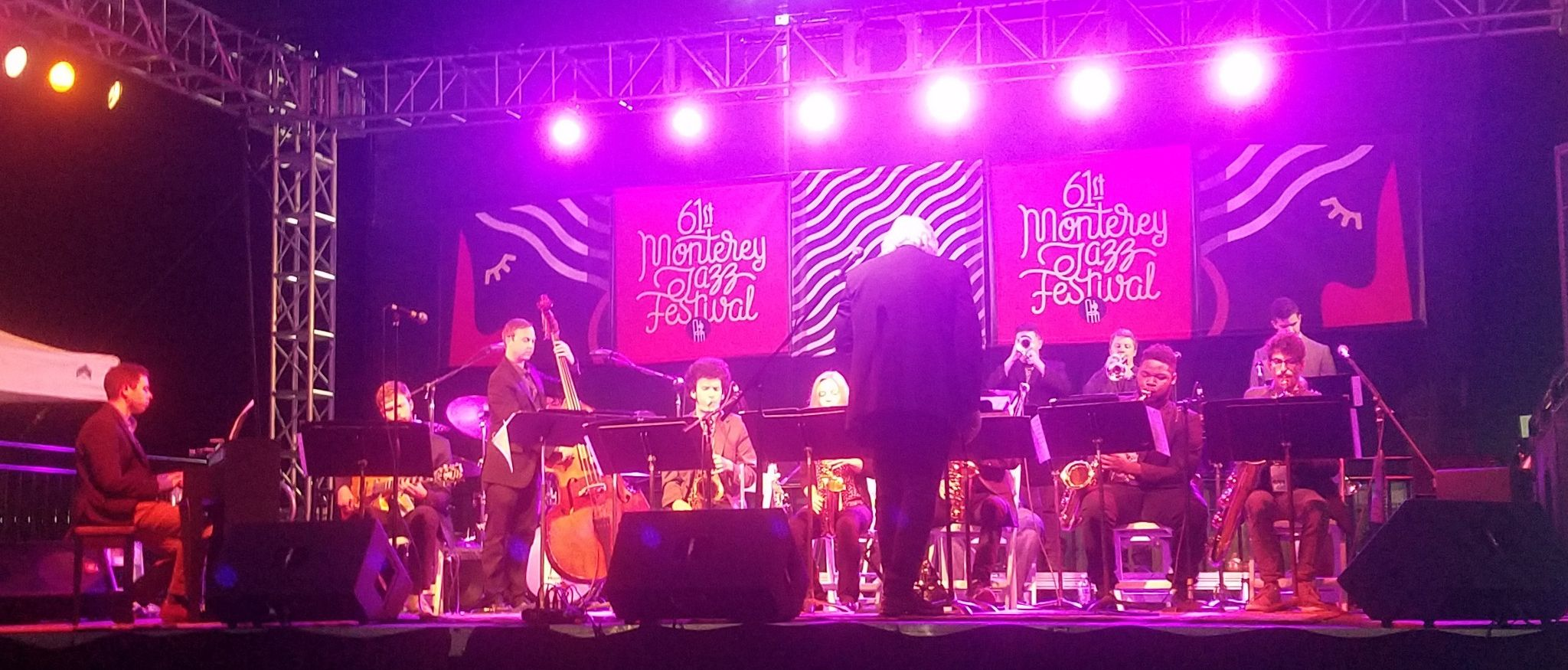 The Lamont Jazz Orchestra performs at the Monterey Jazz Festival