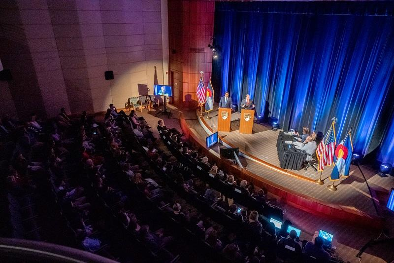 A shot of the Cable Center during the 2018 Gubernatorial Debate