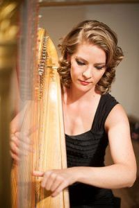 Ann Marie Liss with harp