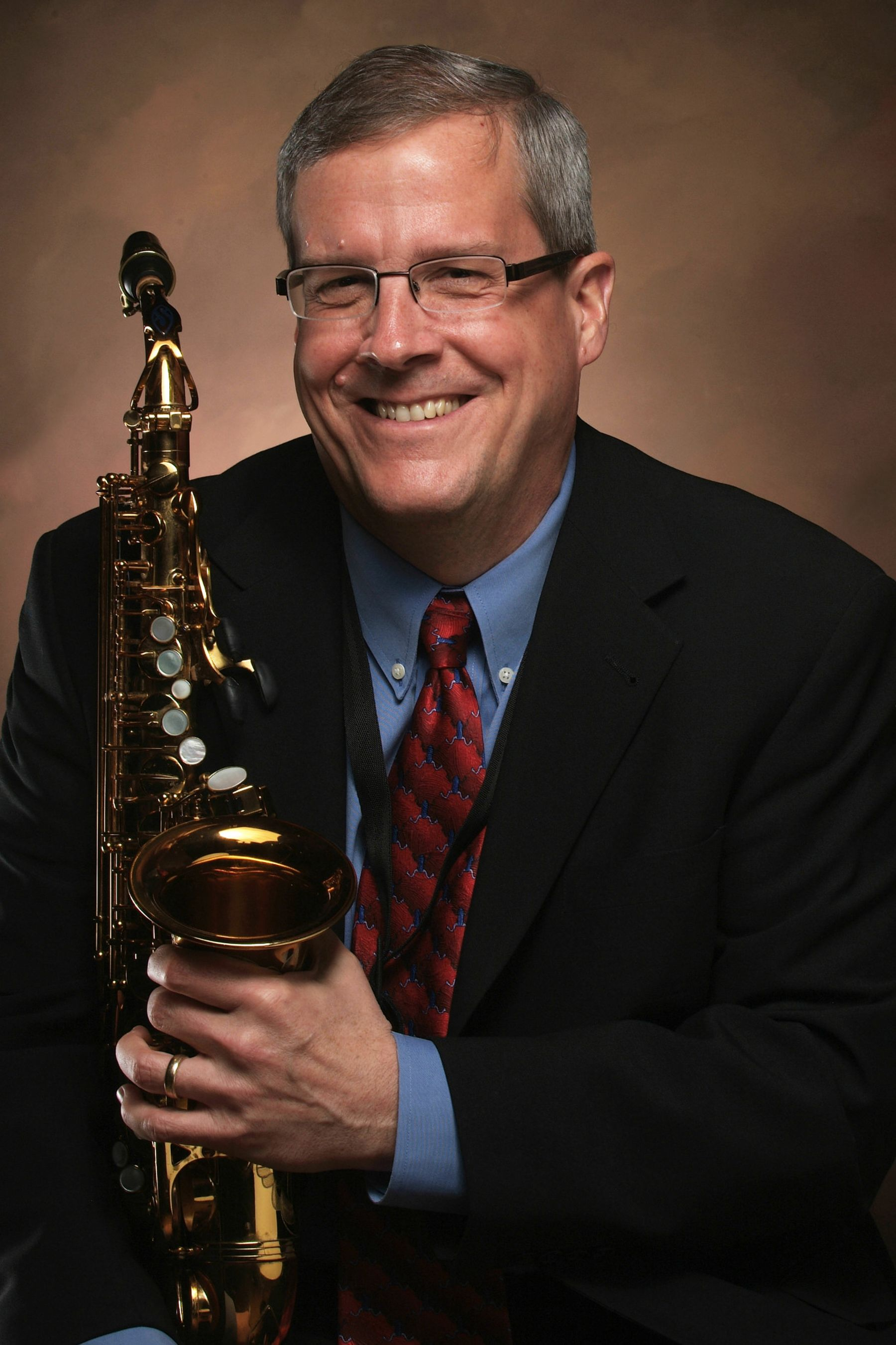 Art Bouton with saxophone