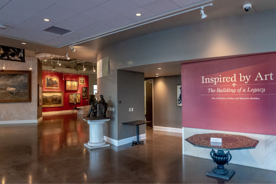 interior of Madden museum
