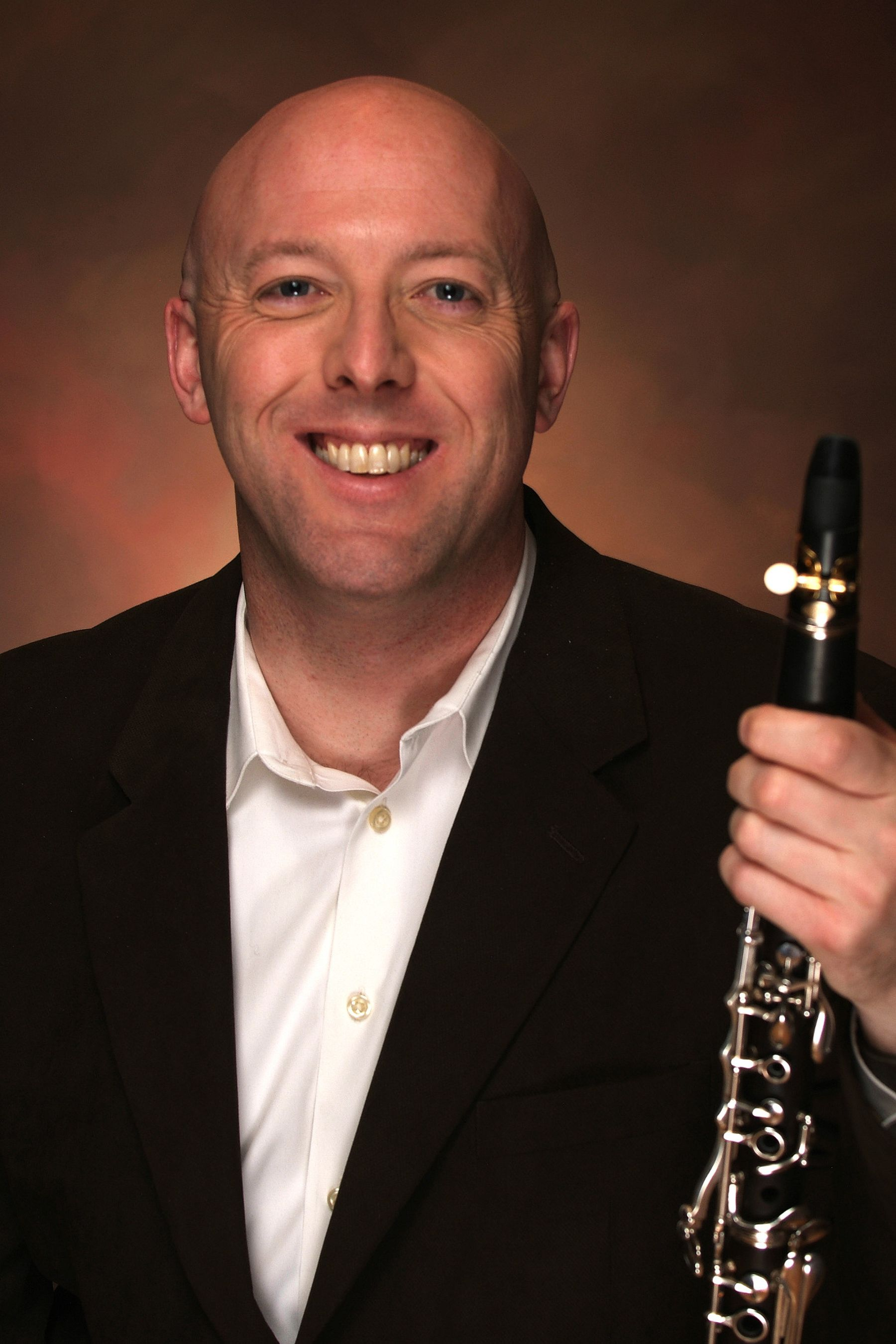 Jeremy Reynolds with clarinet